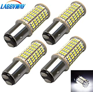 LABBYWAY 4 X 1440 Lumens 3014 144-EX Chipsets Super Bright 6000K LED Bulbs 1157 2057 2357 7528 LED Bulbs Used For Turn Signal Lights, Tail Lights, Xenon White