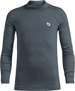 BALEAF Youth Boys' Compression Thermal Shirt Fleece Baselayer Long Sleeve Mock Top