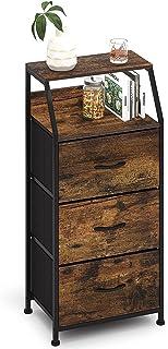 Commode Etroite à 3 Tiroirs Meuble de Rangement Vintage Dressoir Design Moderne Armoire d'angle Ràgement Placard Multifonc...