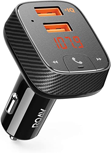 lowest Anker ROAV SmartCharge F2 new arrival Bluetooth FM outlet online sale Transmitter, Wireless Audio Adapter and Receiver, Car Charger with Bluetooth, Car Locator, App Support, 2 USB Ports, PowerIQ outlet sale