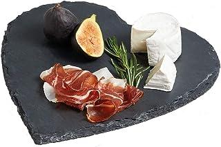 Kitchencraft Artesa Master Class - Bandeja para Servir (Pizarra), diseño de corazón