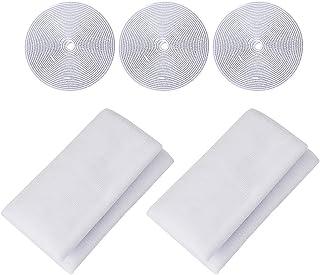 JRing Pantalla de Insectos Pantalla de Insectos Para Ventanas Net Mesh Kit 1.3m x 1.5m Blanco // 2Pack