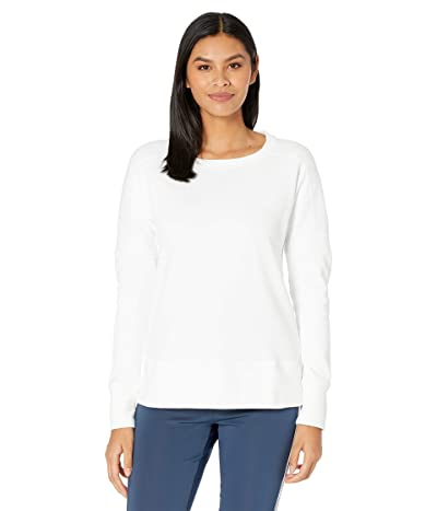 adidas Golf Go-To Primegreen Crew Sweatshirt (White) Women