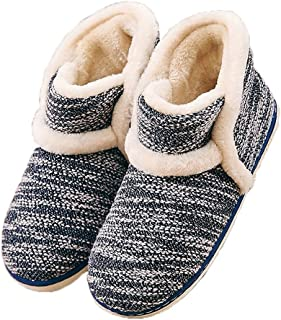 Garatia Winter Vintage Boot Womens Slippers Arctic Solid Indoor Outdoor House Shoes Blue Size: 10-10.5
