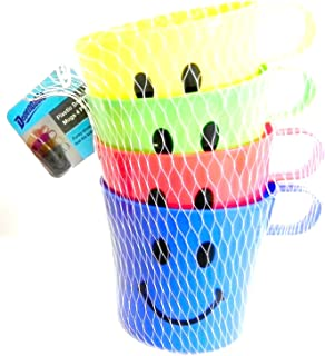 DINY Home & Style 12 Pack Plastic Children's Smiley Face Mug