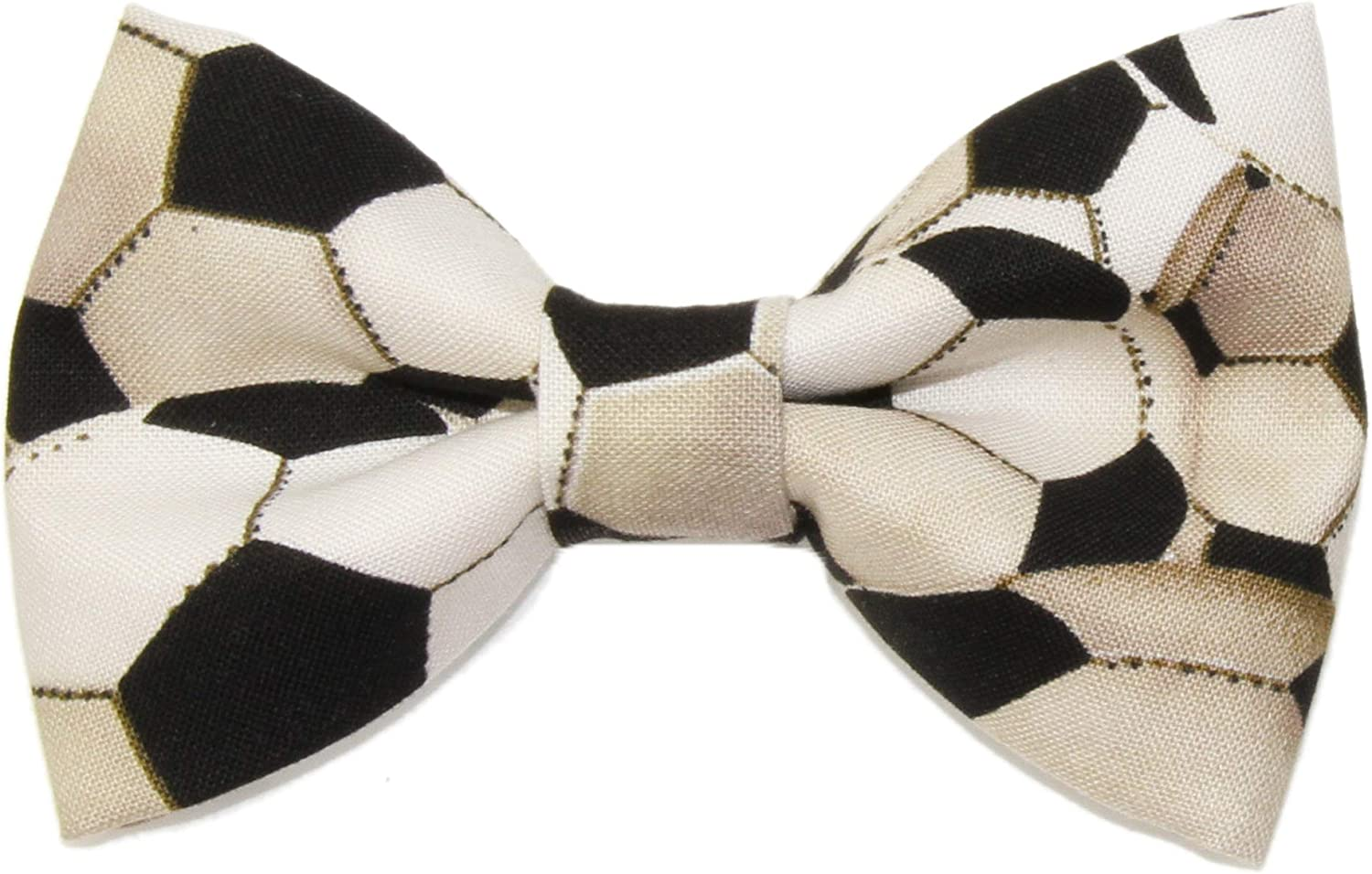 Boys Dirty Soccer Ball Clip On Cotton Bow Tie Bowtie by amy2004marie