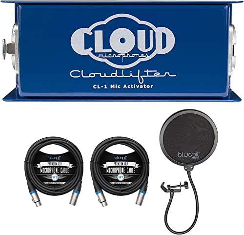 new arrival Cloud Microphones CL-1 Cloudlifter 1 Channel Mic new arrival Activator for Dynamic/Ribbon/Tube Microphone Bundle with Blucoil 2-Pack of outlet online sale 10-FT Balanced XLR Cables, and Pop Filter Windscreen online sale