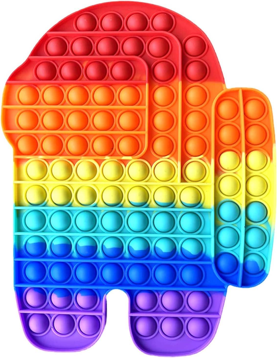Fidget Toy Juguete Antiestres | Pop It Sensorial Among us Gigante para Niños y Adultos | Bubble Push Pop it Among Us | Juguetes Antiestrés de Explotar Burbujas para Aliviar Estrés y Ansiedad