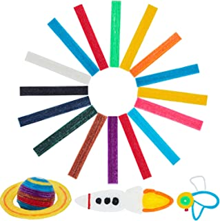 About 640 Pieces Sticky Wax Yarn Stix Monkey String Bendable for Children DIY School Project, 13 Colors