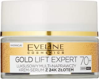 Eveline Cosmetics Gold Lift Expert Antiveck stark halmrande CREME TAG&NACHT 70+ med 24 karat guld 50 ml