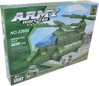 ausini 22602 army Helicopter Shaped Building Blocks - 308 Pieces