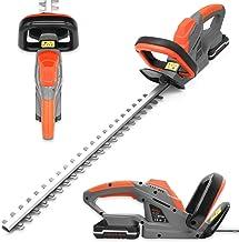 Sponsored Ad – Terratek 20V Cordless Electric Hedge Trimmer, 51cm (510mm) Cutting Length, Easy cut Pro Lightweight Garden ...