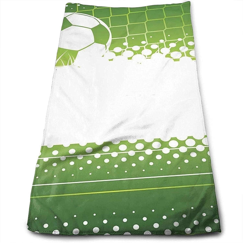 Epushow Football Handkerchief Kitchen Bathroom Handkerchief Soft Polyester Microfiber