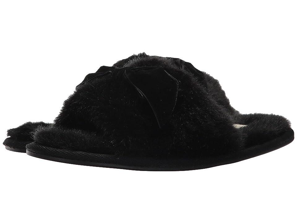 Kate Spade New York Parfett Slipper (Black Plush Fur) Women
