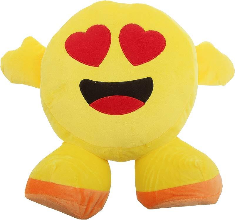 Smiley Emoji Design Filled Plush Cushion With Legs 10 Designs