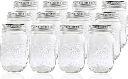 Jarden 12 Ball Mason Jar with Lid - Regular Mouth - 16 oz
