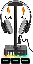 پایه ایستاده هدفون RGB با شارژر USB KAFRI میز هدست مخصوص بازی KAFRI میز هنجر رک با 3 پورت شارژ USB و 2 خروجی - مناسب برای میز رومیزی گیمر بازی لوازم جانبی هدفون مخصوص دوست پسر