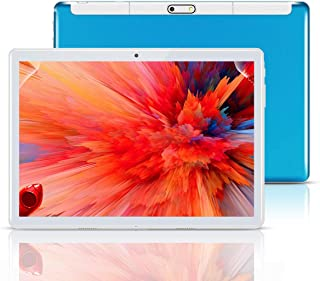 """Android Tablet 10 Inch,Tablets PC 10.1"""",HD,3G, 8.1, WiFi, GPS, GSM, Octa Core, 64GB ROM, 4GB RAM, Dual Sim Card, (Blue)"""
