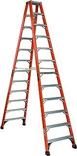 Louisville Ladder FM1412HD Fiberglass Twin Front Ladder, 12-Feet, 375-Pound Duty Rating