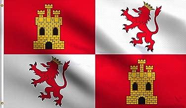 DMSE Spanish Royal Standard Spain Flag 3X5 Ft Foot 100% Polyester 100D Flag UV Resistant (3' X 5' Ft Foot)