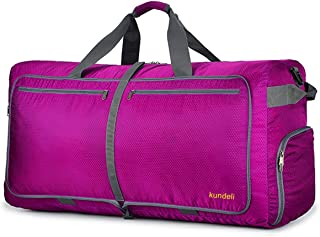 120L Extra Large Travel Duffel Bag, Lightweight Packable Luggage Duffle Bag for Men Women, Waterproof Camping Bags 6 Color Choices (Rose Red)