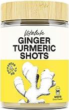Ginger Shots with Turmeric - 80 Shots - Curcumin, Cayenne Pepper & Vitamin C - No Sugar - Ginger Powder Drink