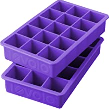 Tovolo Perfect Cube Ice Mold Trays, Sturdy Silicone, Fade Resistant, 1.25