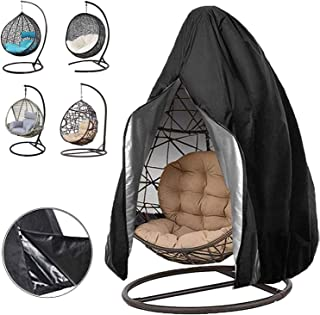 Wuciray Patio Hanging Chair Cover, Garden Swing Chair Covers with Zipper, 210D Oxford Fabric Egg Swing Chairs Protector, L...