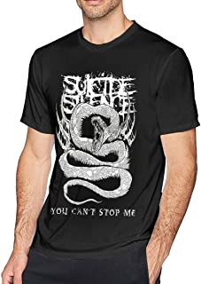 OLIVIA HARPER Mens Particular Suicide?Silence?You?Can't?Stop?me Tshirts Black
