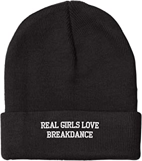 Real Girls Love Breakdance Embroidered Beanie Cap