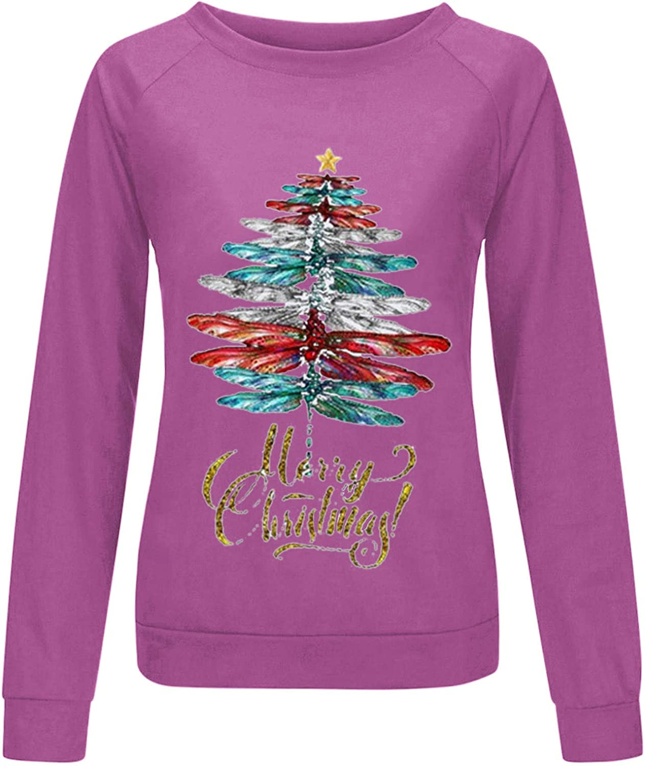 Merry Christmas Sweatshirt Shirt for Columbus Mall Women Tree Ugly C Selling and selling