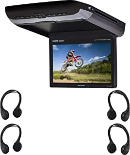 "Alpine PKG-RSE3HDMI 10.1"" Overhead Video Monitor with a Built-in DVD Player and Two HDMI inputs with 2X Additional SHS-107..."