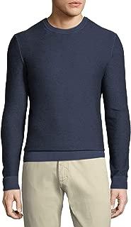 Men's Navy Wool Crew Neck Long Sleeve Sweater RTL$540