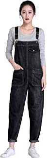 Soojun Women's Casual Baggy Denim Bib Overall