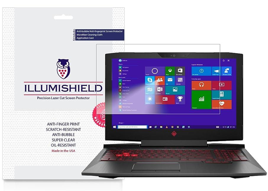 HP Omen Screen Protector (15-CE011DX)[2-Pack], iLLumiShield Screen Protector for HP Omen Clear HD Shield with Anti-Bubble & Anti-Fingerprint Film