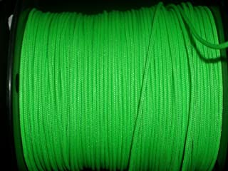 60X Custom Strings Flo Green BCY #24 D Loop Rope Release Material 10'