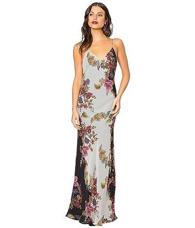 LAVENDER BROWN Bias Printed Maxi Dress