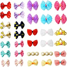 pony princess Dog Bows Hair Accessories with Clip Pet Grooming Products Puppy Small Bowknot Handmade Mix Styles Small Midd...