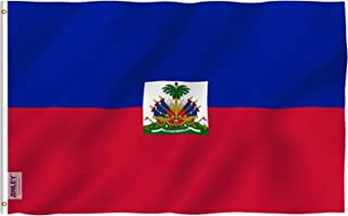 Anley Fly Breeze 3x5 Foot Haiti Flag - Vivid Color and UV Fade Resistant - Canvas Header and Double Stitched - Haitian National Flags Polyester with Brass Grommets 3 X 5 Ft