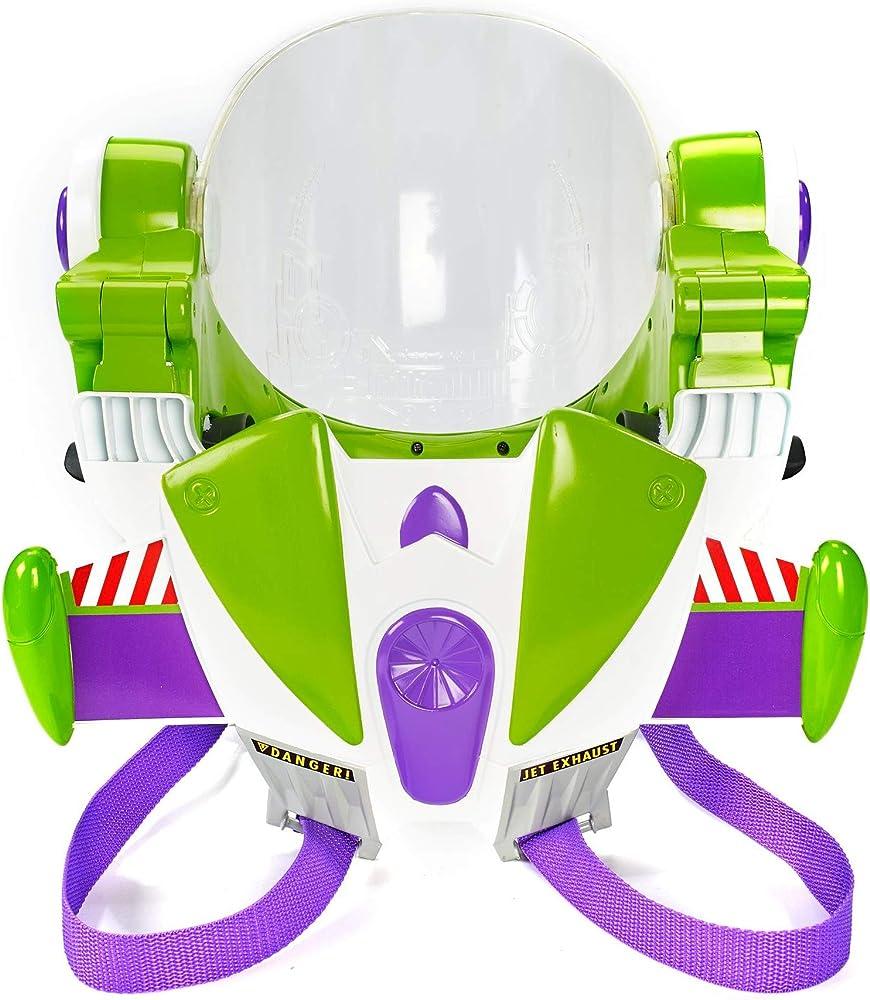 mattel, toy story 4 armatura space ranger di buzz lightyear, indossabile con suoni, ali, casco, visiera gfm39