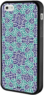 Case for iPhone 5C, Protective Cover with Tire Pattern Soft Edges Slim Thin Design Maze
