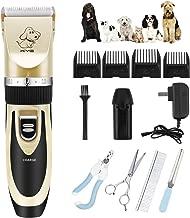 Kit Tosatrice Professionale Per Cani Tagliacapelli Animali Gatto Ricaricabile Tosatore Elettrico 4 Pettine Testina Regolabile