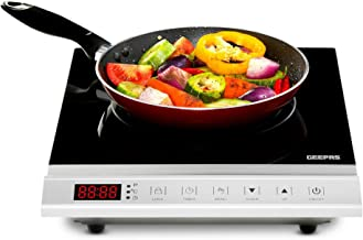 Geepas 2000W Induction Hob Single Portable Hot Plate Digital Electric Cooker GIC33011UK