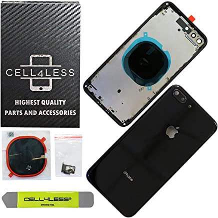 ce9162577 CELL4LESS Back Housing Assembly Metal Frame w Back Glass - Wireless  Charging pad - Sim