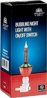 Holiday Joy - Christmas Bubble Night Light - On/Off Switch