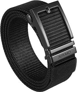 JUKMO Cinturón de trinquete para hombre, cinturón táctico de nailon con hebilla deslizante automática