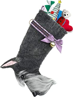 Hearth Hounds - Schnauzer - Realistic Dog Stocking for Holidays, Christmas and Animal Lovers, Great Gift Bag for New Dog Owner Or Doggie Birthday