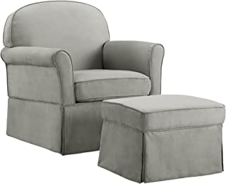 Baby Relax Swivel Glider and Ottoman Set, Light Grey