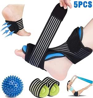 Feilifan Plantar Fasciitis Night Splint Kit,  Adjustable Dorsal Night Splint Supports for Right or Left Foot, Effective Relief from Plantar Fasciitis Pain, Foot Back Sprain and Strain