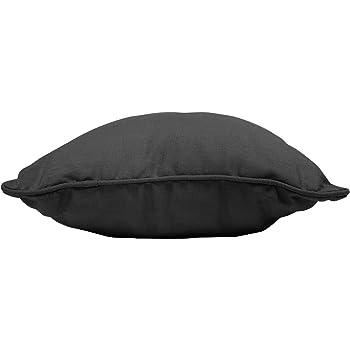 coton dint/érieur coussin 60x60cm coton panama noir